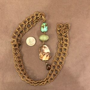Gorgeous OOAK Necklace with Vintage Chain